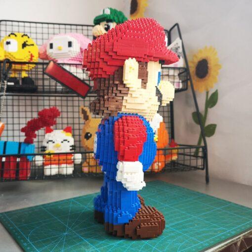 HC 1006 Video Game Super Mario Victory Mario Hero 3D Model DIY Mini Diamond Blocks Bricks 3