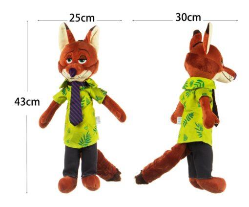 HONJI 15inch Movie Zootopia Plush Toy Cute Zootopia Rabbit Judy Hopps Plush Toys Doll Soft Stuffed 4