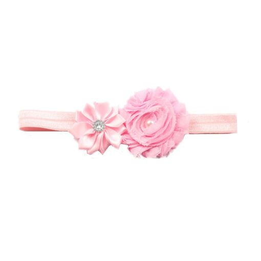 Hair Accessories Lovely Baby Headband Fake Flower Nylon Hair Bands For Kids Artificial Floral Elastic Head 4