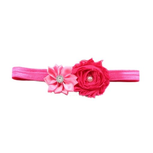 Hair Accessories Lovely Baby Headband Fake Flower Nylon Hair Bands For Kids Artificial Floral Elastic Head 5