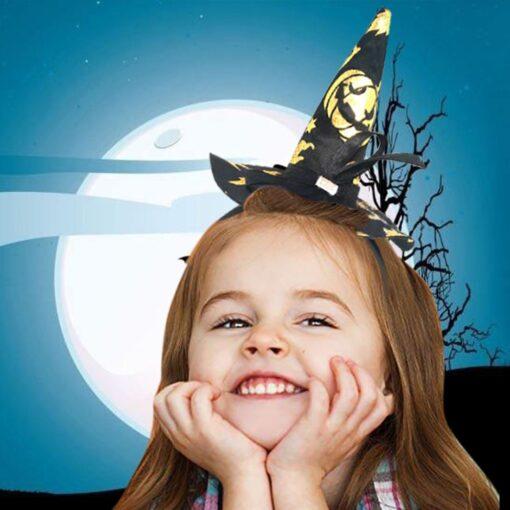 Halloween Decoration Kids Headwear Witch Headband Witch Hat Poin Hat Hair Clip Children Cartoon Headwear Photo 3