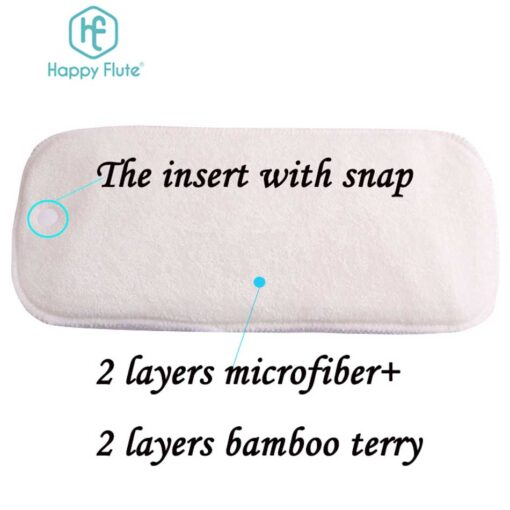 HappyFlute 10 pcs 2 layers bamboo 2 layers microfiber Newborn Liner Insert For Baby Cloth Diaper 1