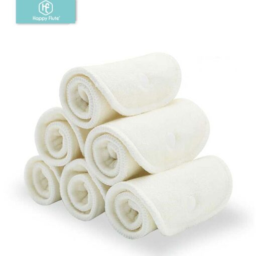 HappyFlute 10 pcs 2 layers bamboo 2 layers microfiber Newborn Liner Insert For Baby Cloth Diaper