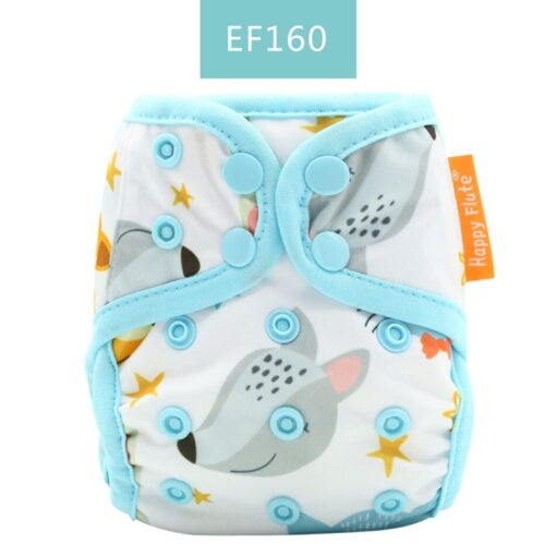 Happyflute tiny newborn cloth diaper snap and hook loop cover fitted newborn baby 2