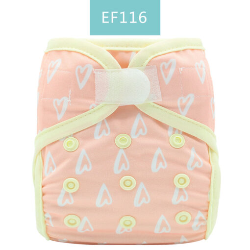 Happyflute tiny newborn cloth diaper snap and hook loop cover fitted newborn baby 3