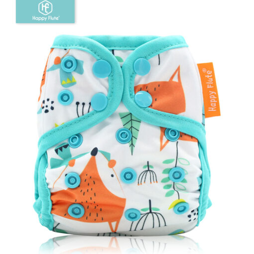 Happyflute tiny newborn cloth diaper snap and hook loop cover fitted newborn baby