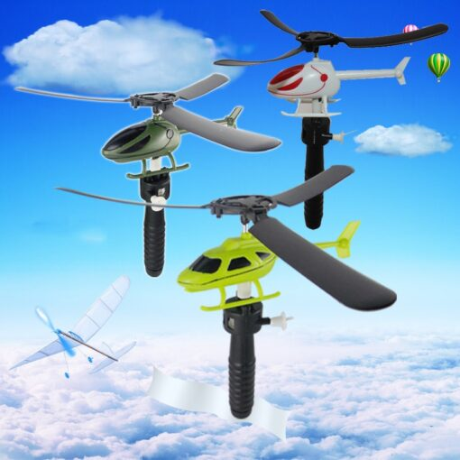 Helicopter Fly Drawstring Pull Wires RC Helicopters Fly Freedom Drawstring Mini Plane Children s Gifts Outdoor
