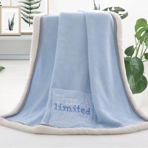 High Quality Baby Blanket Thermal Fleece Cobertor Infantil Swaddle Nap Receiving Stroller Wrap Newborn Baby Bedding 1
