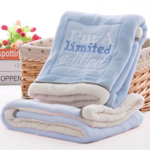 High Quality Baby Blanket Thermal Fleece Cobertor Infantil Swaddle Nap Receiving Stroller Wrap Newborn Baby Bedding