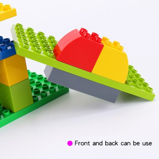 High Quality Double side Baseplates For Big Bricks DIY Building Blocks Base Plate Compatible With Duplos 1