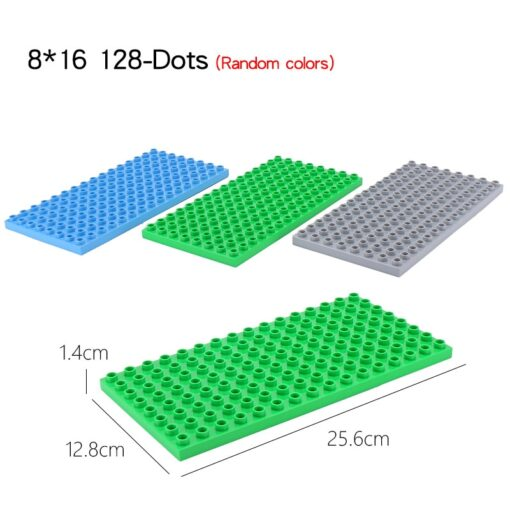 High Quality Double side Baseplates For Big Bricks DIY Building Blocks Base Plate Compatible With Duplos 3