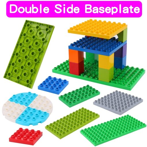High Quality Double side Baseplates For Big Bricks DIY Building Blocks Base Plate Compatible With Duplos