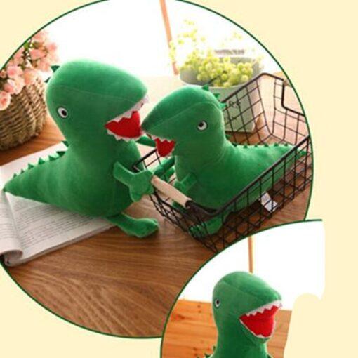 High Quality Mr Dinosaur Plush Doll Toy Anime Soft Kids Gifts Green Curious Popular Plush Doll 2