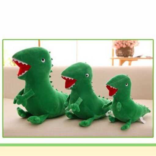 High Quality Mr Dinosaur Plush Doll Toy Anime Soft Kids Gifts Green Curious Popular Plush Doll 4