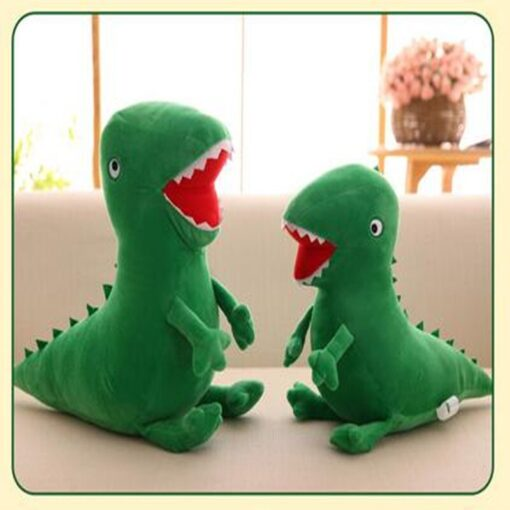 High Quality Mr Dinosaur Plush Doll Toy Anime Soft Kids Gifts Green Curious Popular Plush Doll 5