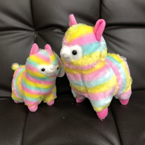 High Quality Soft Cotton Baby Animals Alpaca Plush Toy Two Size Dolls For Children For Gift
