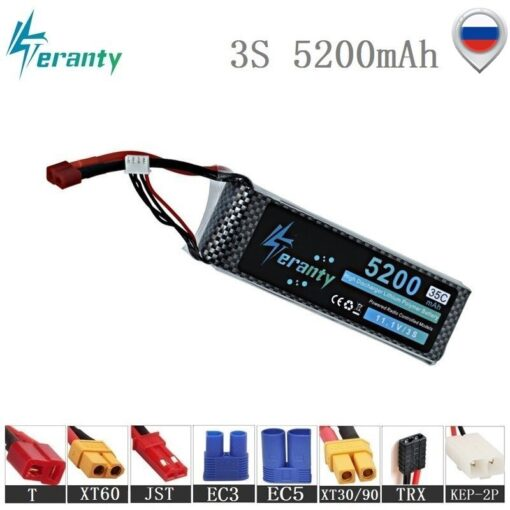 High Rate 11 1V 5200mAh Lipo Battery For RC Cars Robot Airplanes Helicopter Parts 3s Lithium
