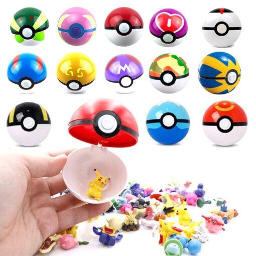 High quality 7CM Pet Elf Ball Pokemones Pokeballs with 2 5 3cm figures Toys Can Dream