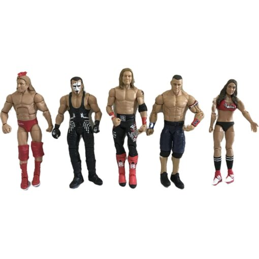 High quality wrestler action figure toys wwe characters occupation wrestling gladiators for Children gifts 1