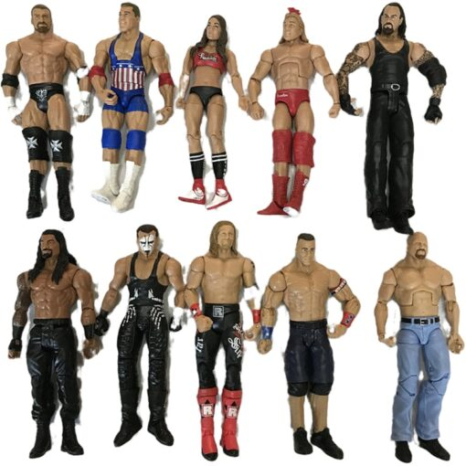 High quality wrestler action figure toys wwe characters occupation wrestling gladiators for Children gifts