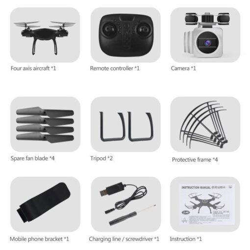 HobbyLane RC Drone Wi Fi Remote Control Aerial Photography Drone HD Camera 200W Pixel UAV Gift 4