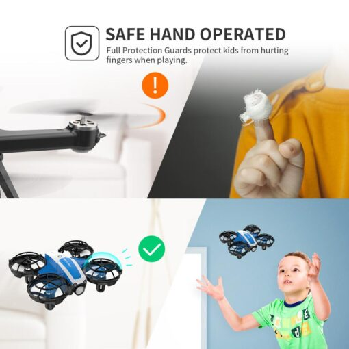 Holy Stone HS330 Hand Operated Mini Drone for kids Remote Control Quadcopter with Altitude Hold Throw 2