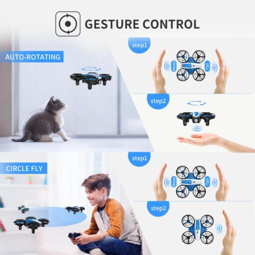 Holy Stone HS330 Hand Operated Mini Drone for kids Remote Control Quadcopter with Altitude Hold Throw 3