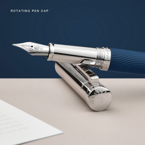 HongDian Wave Pattern Stainless Fountain Pen Iridium EF F Nib Classic Pen Gift 1