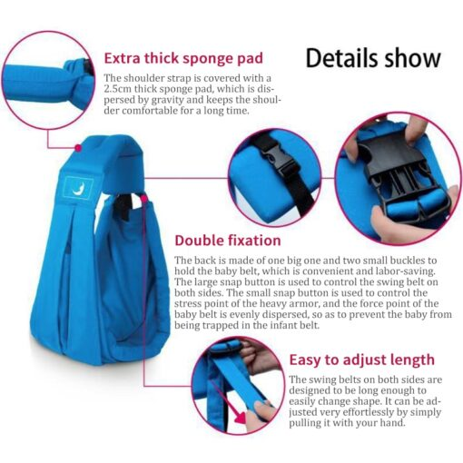 Hot 2019 New Organic Cotton Ergonomic Baby Carrier Baby Sling Infant Baby Wrap Multifunctional Adjustable Backpack 5