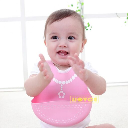 Hot Baby Bib Adjustable Clothes Pattern Waterproof Saliva Dripping Bibs Waterproof Soft Silicone Oil proof Newborn 1