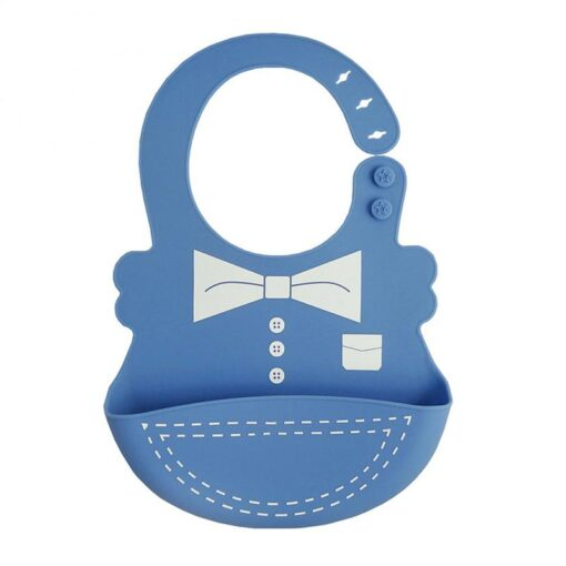 Hot Baby Bib Adjustable Clothes Pattern Waterproof Saliva Dripping Bibs Waterproof Soft Silicone Oil proof Newborn 5