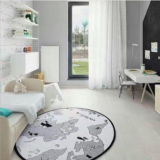 Hot Baby Play Mats Game Racing Mat Cotton Kids Crawling Carpet Sleep Bed world map Print 3