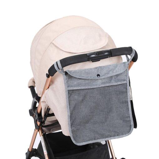 Hot Baby Stroller Organizer Child Trolley Basket Mesh Hanging Storage Net Bag Seat Pocket Stroller Cart 4
