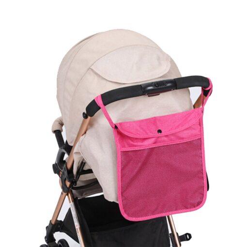 Hot Baby Stroller Organizer Child Trolley Basket Mesh Hanging Storage Net Bag Seat Pocket Stroller Cart 5