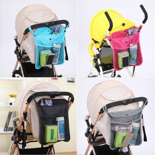 Hot Baby Stroller Organizer Child Trolley Basket Mesh Hanging Storage Net Bag Seat Pocket Stroller Cart
