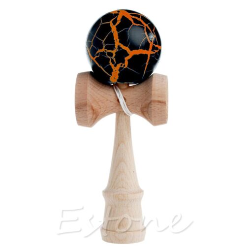 Hot Crack Pattern Paint Toy Bamboo Kendama Best Wooden Educational Toys Kids Toy R9JD 1