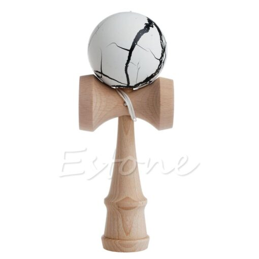 Hot Crack Pattern Paint Toy Bamboo Kendama Best Wooden Educational Toys Kids Toy R9JD 2