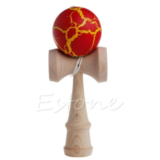 Hot Crack Pattern Paint Toy Bamboo Kendama Best Wooden Educational Toys Kids Toy R9JD 3