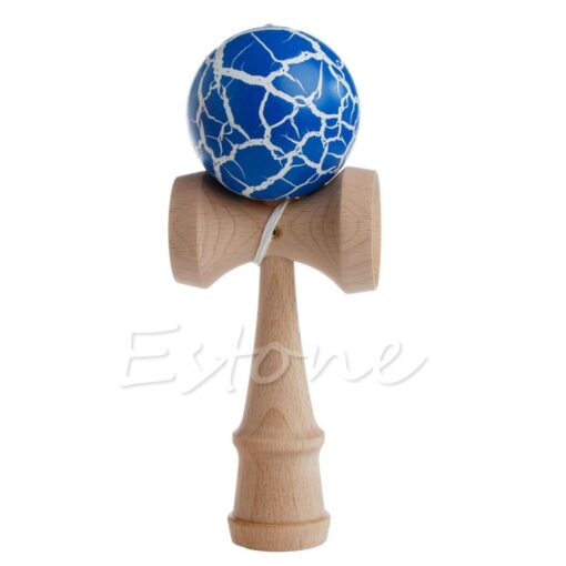 Hot Crack Pattern Paint Toy Bamboo Kendama Best Wooden Educational Toys Kids Toy R9JD 4