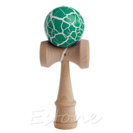 Hot Crack Pattern Paint Toy Bamboo Kendama Best Wooden Educational Toys Kids Toy R9JD