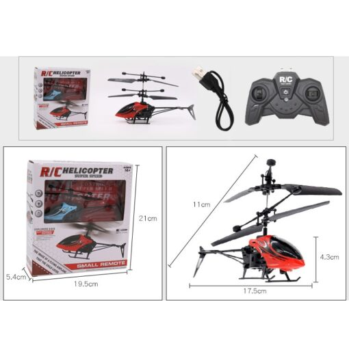Hot Mini QF810 2CH RC Helicopter Suspension Toy With LED Light For Clildren Birthday Christmas Gift 5