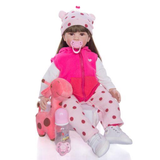 Hot Sale 24 Inch Reborn Baby Dolls Fashion Silicone Soft Realistic Girl Babies Doll Toy Ethnic 1