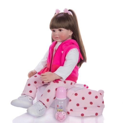 Hot Sale 24 Inch Reborn Baby Dolls Fashion Silicone Soft Realistic Girl Babies Doll Toy Ethnic 2