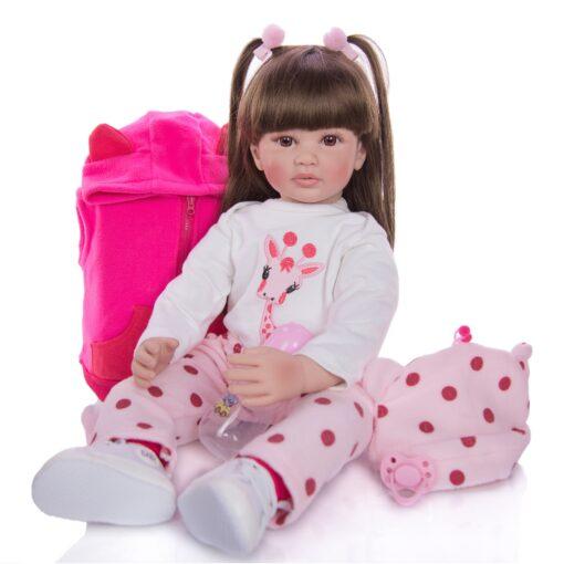 Hot Sale 24 Inch Reborn Baby Dolls Fashion Silicone Soft Realistic Girl Babies Doll Toy Ethnic 3