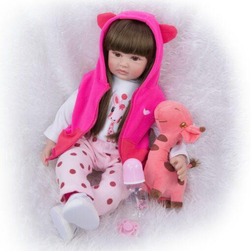 Hot Sale 24 Inch Reborn Baby Dolls Fashion Silicone Soft Realistic Girl Babies Doll Toy Ethnic 4