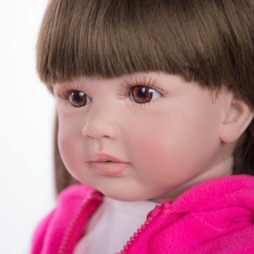 Hot Sale 24 Inch Reborn Baby Dolls Fashion Silicone Soft Realistic Girl Babies Doll Toy Ethnic 5