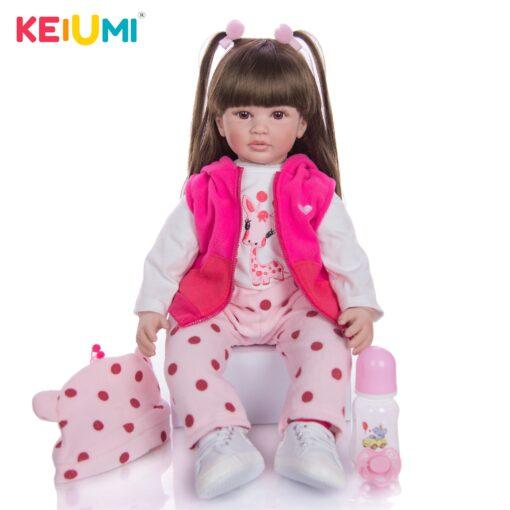 Hot Sale 24 Inch Reborn Baby Dolls Fashion Silicone Soft Realistic Girl Babies Doll Toy Ethnic