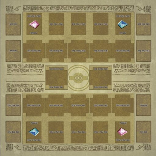 Hot Sale 60x60cm Rubber Play Mat Egypt Mural Style Competition Pad For Yu gi oh Card 1