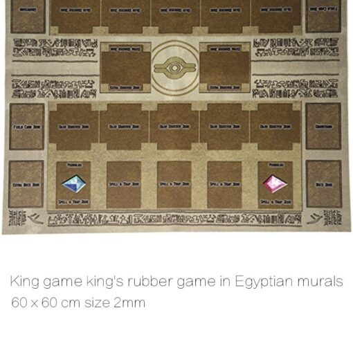 Hot Sale 60x60cm Rubber Play Mat Egypt Mural Style Competition Pad For Yu gi oh Card 4