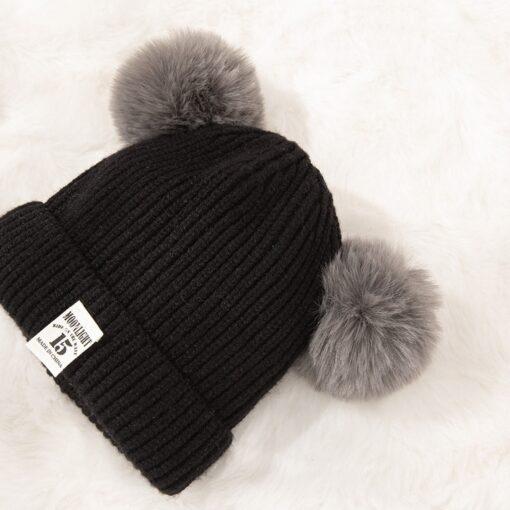 Hot Sale Baby Pom Pom Hat Infant Kids Beanie For Boys Girls Cap Doll Knitted Winter 5
